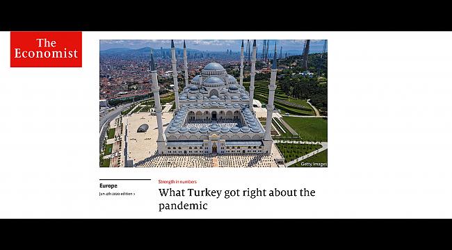 The Economist'ten Türkiye'nin Covid-19 başarısına övgü - Dünya ...