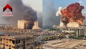 Beyrut'ta patlama anları