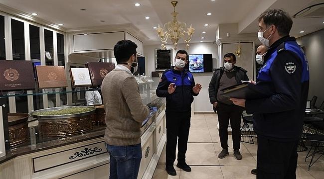 Bursa'da kısıtlamalarla birlikte denetimler hız kesmiyor