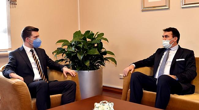 Büyükelçi Alagiç, Başkan Dündar'ı ziyaret etti