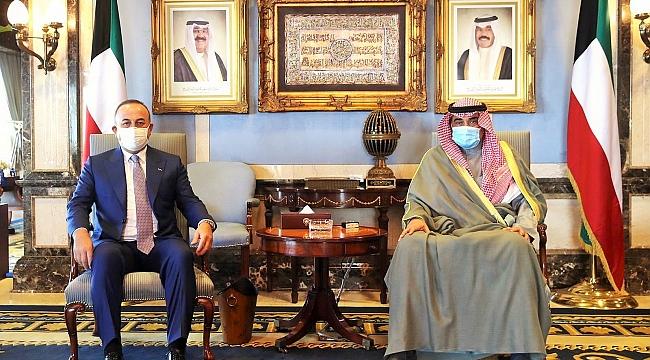 Dışişleri Bakanı Çavuşoğlu Kuveyt Başbakanı Sabah ile görüştü