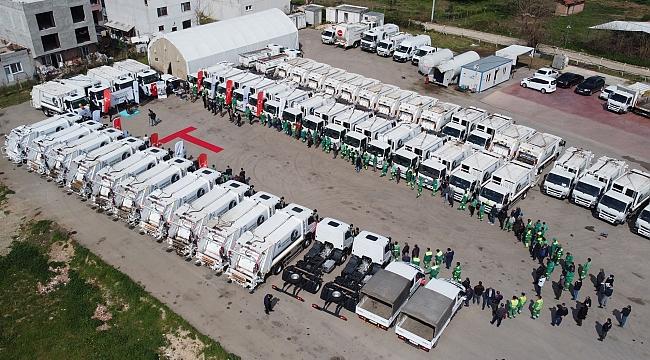 Osmangazi'ye 57 yeni temizlik aracı