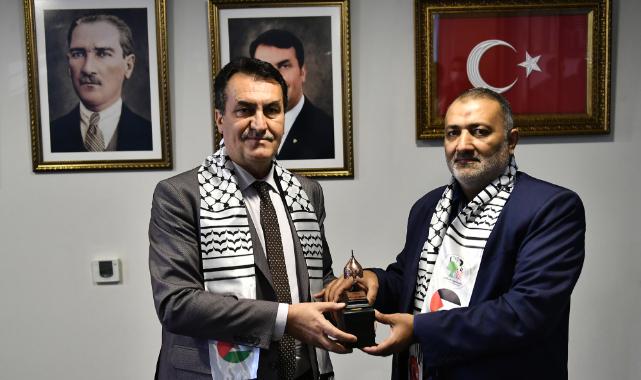 Beyt Hanun Belediye Başkanından Dündar'a ziyaret