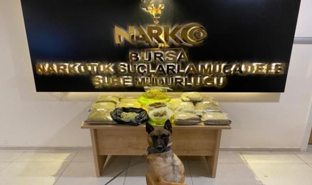 Bursa'da çamaşır makinesinde 13 kilogram sentetik uyuşturucu bulundu