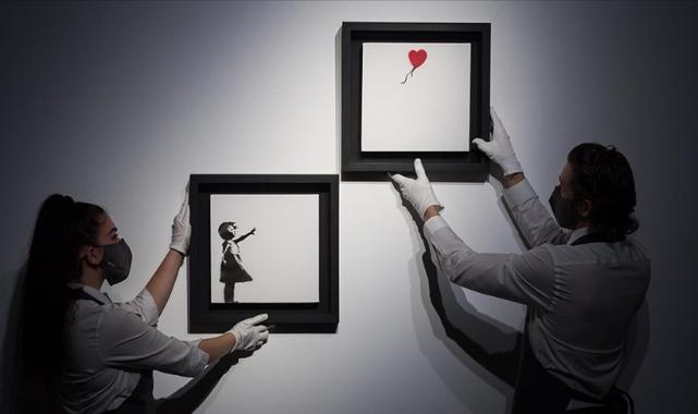 İngiliz sokak sanatçısı Banksy'nin parçalanan eseri 18,5 milyon sterline satıldı
